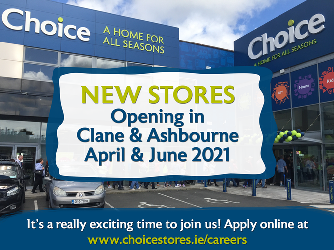 Exciting News: 2 New Choice Stores Opening