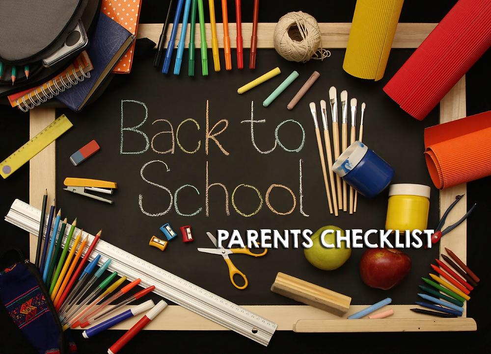 Back to School Parents Checklist