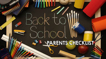 A Back to School Checklist For Parents