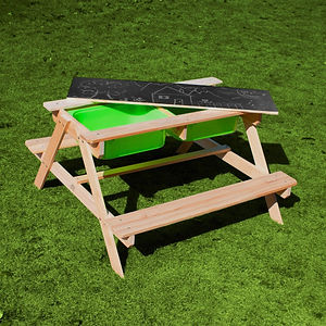 Kids Sand & Water Picnic Table With Chal