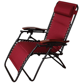 Zero Gravity Textilene Chair Burgundy.pn
