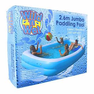 Wild n Wet Plain Paddling Pool 103inx69i