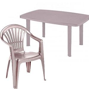Taupe & Piece Plastic Dining Set.jpg