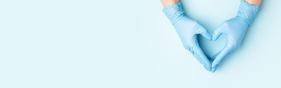 Gloves Heart Blue