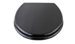 toilet seat cover black