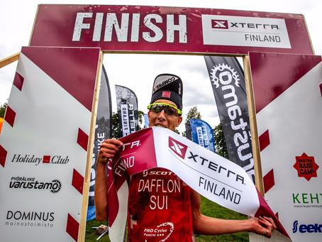 Victoire de Xavier Dafflon en Finlande