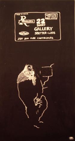 shortgallery - smalto su tavola - 70 x 35