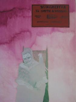 center fire (SON) - olio su tela - 40 x 30