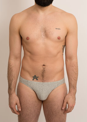 Basic Low-Rise Grey Brief