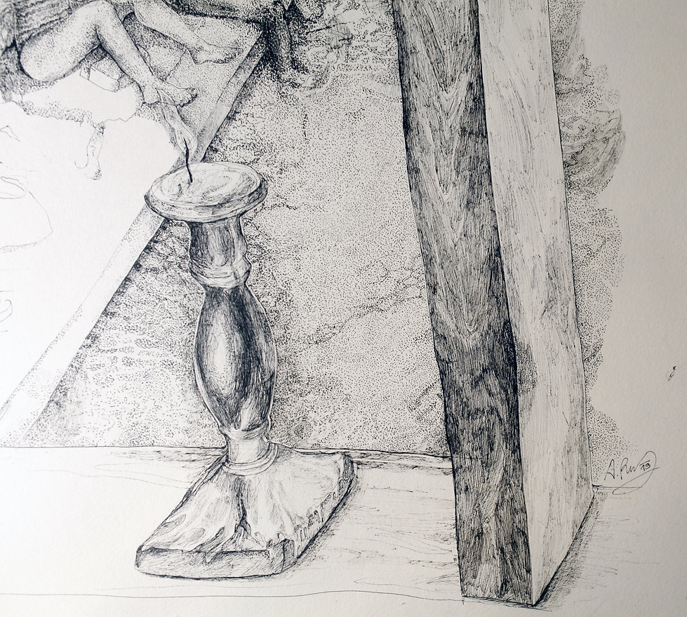 ink drawing Astrid Rothaug