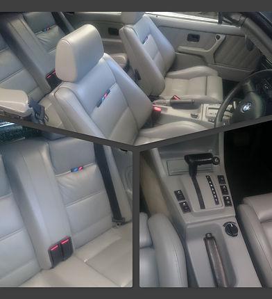 BMW E30 Convertile restored Interior