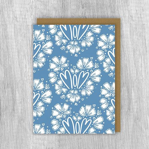 Mom Flower (Blue)