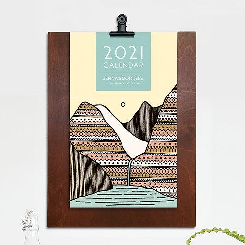 Limited 2021 Calendar w/ Handmade Displayer