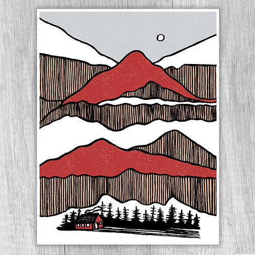 Mountain Stacks (red)