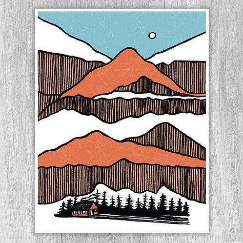 Mountain Stacks (orange)