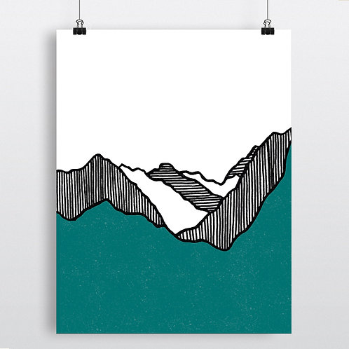 Fault Lines (turquoise)