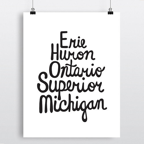 Great Lake Typography