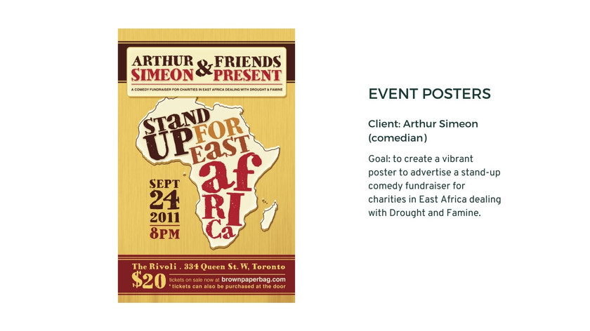 Event Posters - Arthur Simon (Stand-up A