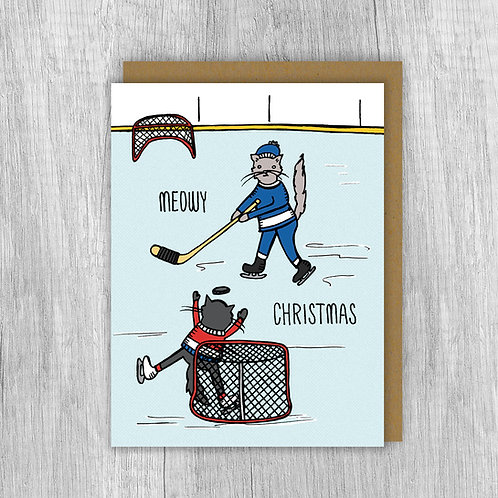 Meowy Christmas Hockey