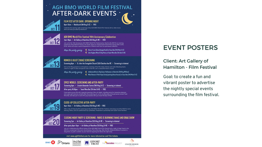 Event Poster - Art Gallery of Hamilton Film Festival