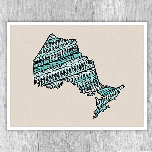 Ontario (turquoise texture)
