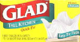 glad bag kitchen tall hndl-tie white