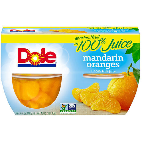 Dole fruit  mandarin/tropi sliced