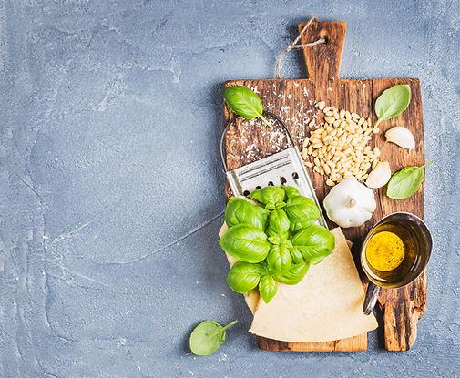 ingredients-for-cooking-pesto-sauce-P5EY