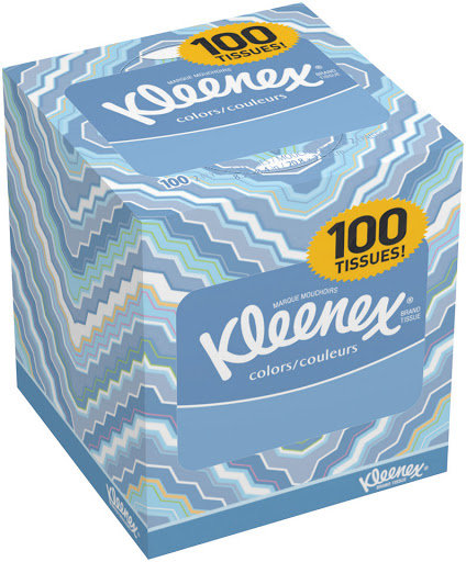 kleenex facial tissue 27/100 ct