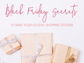 Black Friday Secrets to Keep Your Holiday Shopping Efficient