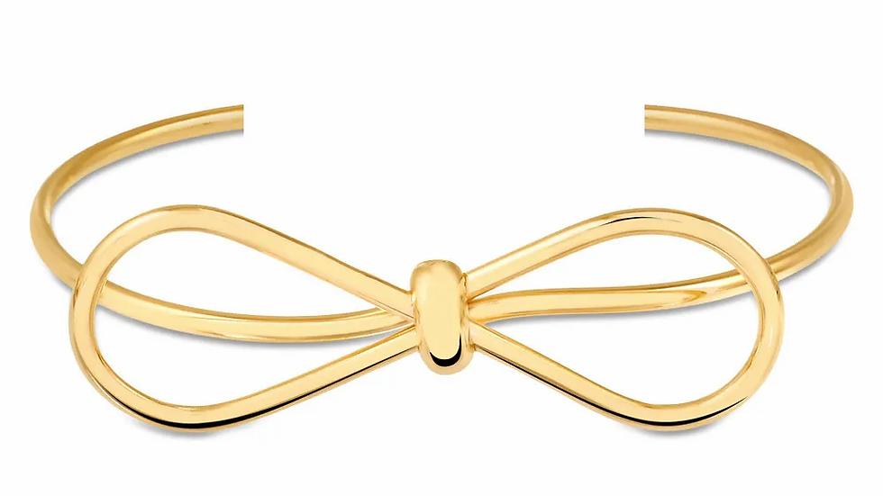 Bracelete Laço Folheado a Ouro 18K