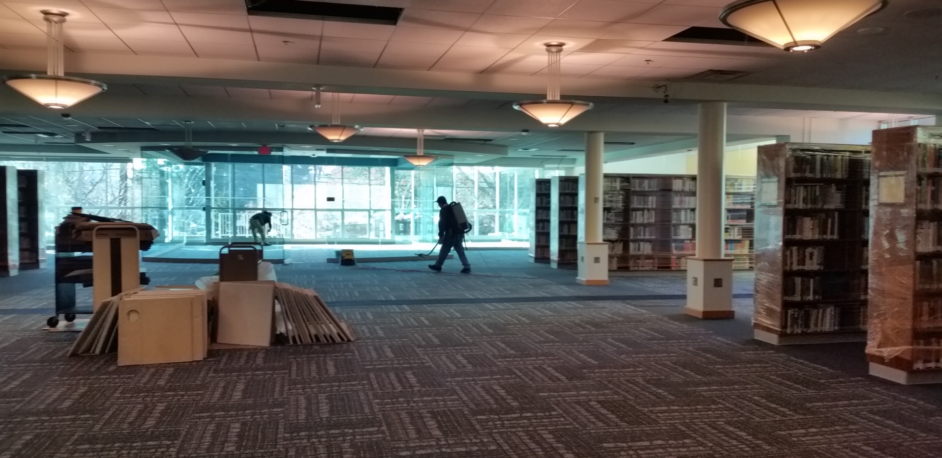 Construction clean up Bethesda Library 2