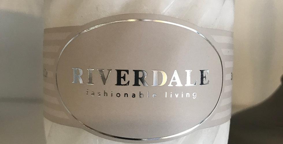 Riverdale Bougie structur, White Tea&Ginger 7,5x7cm, temps du combustion ca. 36h