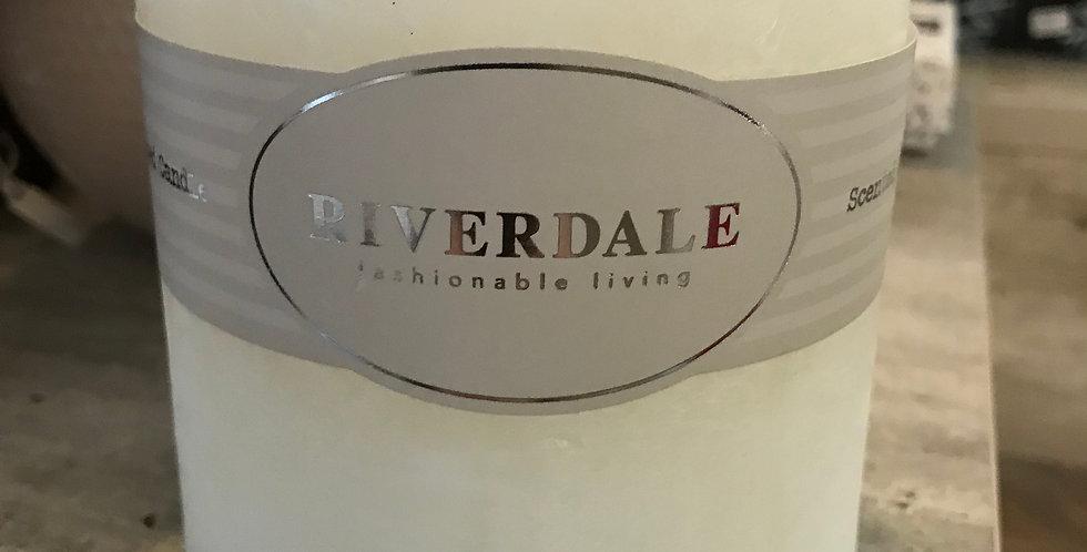 Riverdale Bougie parfumée, White Tea&Ginger 10x10cm, temps du combustion ca. 80h