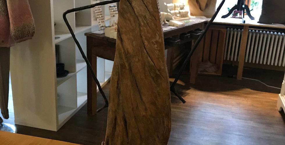 Statue femme, bois flotté - métal, 48cm