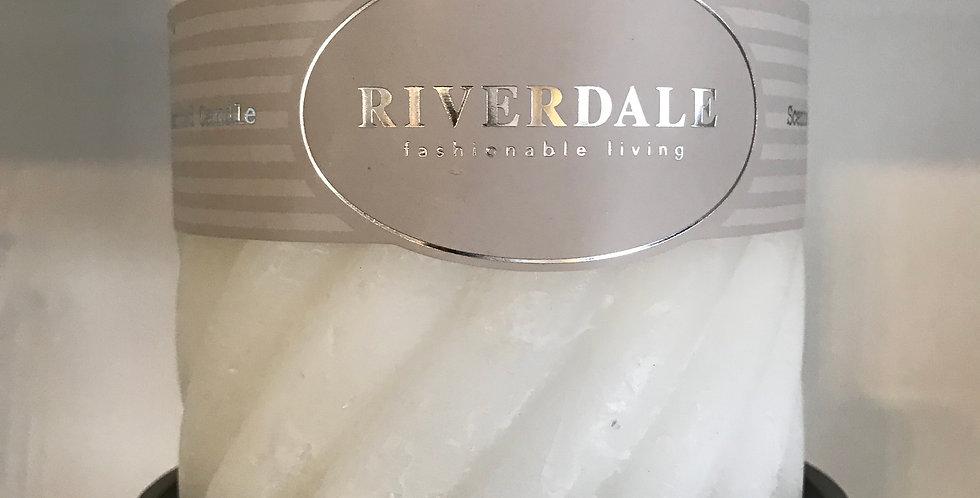 Riverdale Bougie structur, White Tea&Ginger 10x10cm, temps du combustion ca. 80h