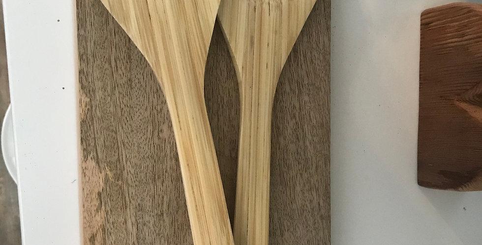 ustensiles salade bambou 33cm