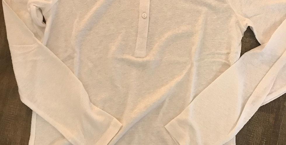 t-shirt à manches longues avec boutons, rosé, lin-viscose, Taille L