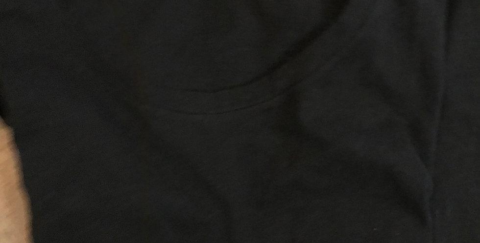 T-Shirt manches courtes, noir, cotton, cozy basic shirt Taille S