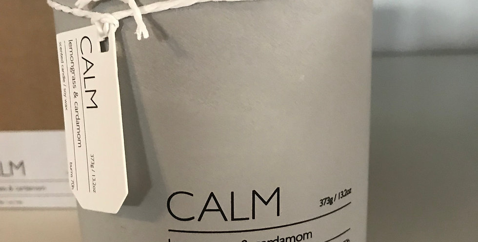 Calm Bougie parfumée, concret, odeur; Lemongrass &Cardamom