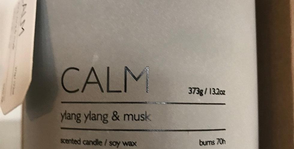 Calm Bougie parfumée, concret, odeur; Ylang-Ylang & Musk