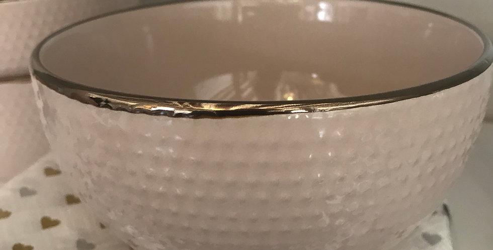 bol diamètre 14cm bord doré,porcellaine