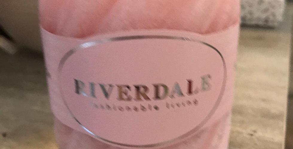Riverdale Bougie parfumée,structure, rose 10x10cm, temps du combustion ca. 80h