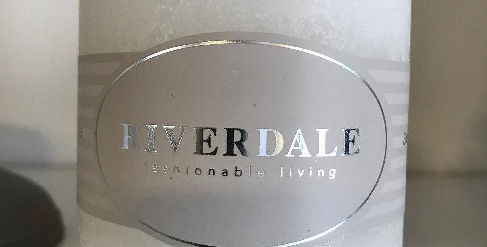 Riverdale Bougie parfumée, White Tea&Ginger 7,5x7,5cm,temps du combustion ca.36h