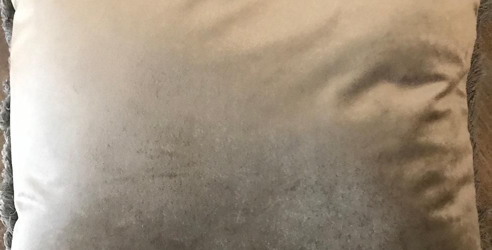 Cousin lavable avec fermeture éclair, brun-doré
