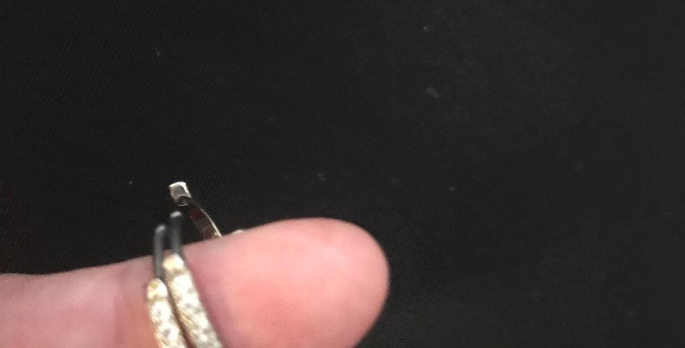 Boucle d'oreilles creole, inox argenté, strass swarovski