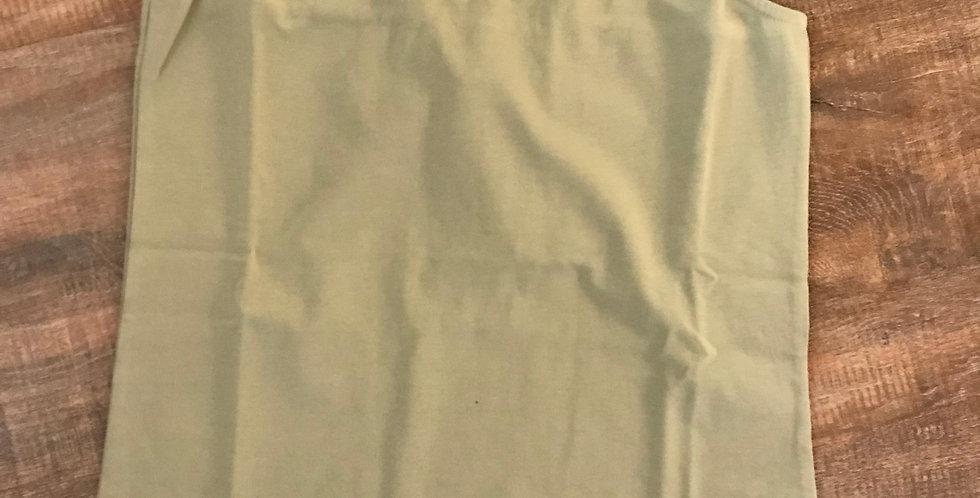 Top vert avec de porter d'or, cotton, taille S