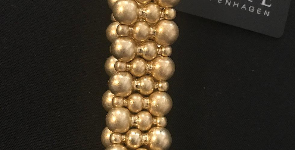 Sence bracelet laiton doré, elastic 3 boules