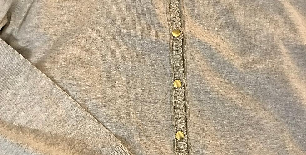 Veste gris-argenté, mélange du viscose, Taille XL