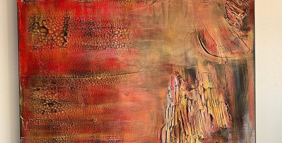 Tableau L. Arcange de Cathy Bitz du Nax, 60x80cm, Chassis 4,5cm bois du pin